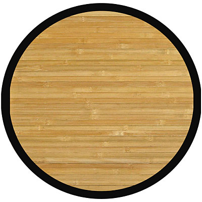 Anji Mountain Bamboo Rug, Co Contemporary 7 Round Natural Area Rugs