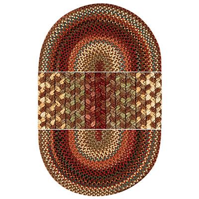Capel Rugs Americana 11 x 14 oval Mocha Area Rugs