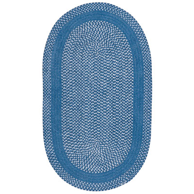 Capel Rugs Basketweave 9 x 13 oval China Blue Area Rugs