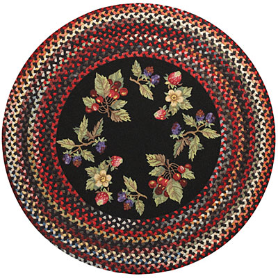 Capel Rugs Somewhere In Time 5 ft Round Berry Patch Area Rugs