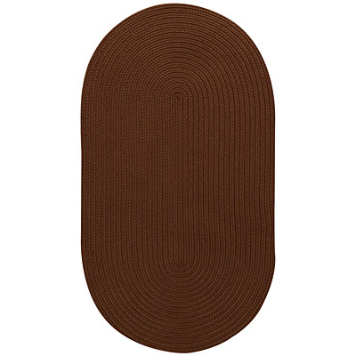 Capel Rugs Woodrun 5 x 8 Oval Chocolate Area Rugs