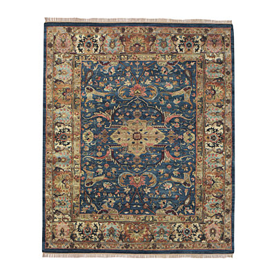Capel Rugs Babylon - Kirman 9 x 12 AzureBlue Area Rugs