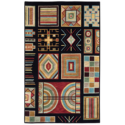 Capel Rugs Crystalle - Aztec 8 x 11 Black Area Rugs