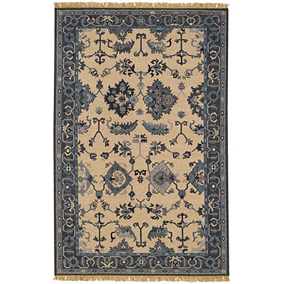 Capel Rugs Indienne - Oushak 8 x 12 Delft Area Rugs