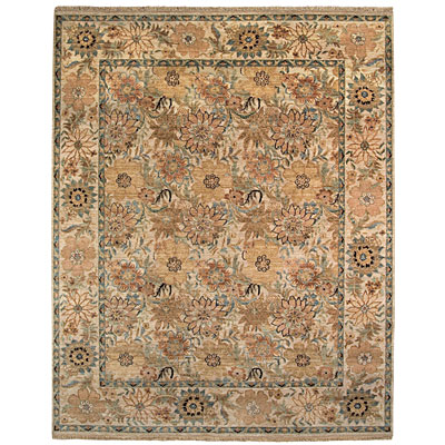 Capel Rugs Lodi Garden - Floral 8 x 10 Creme Area Rugs