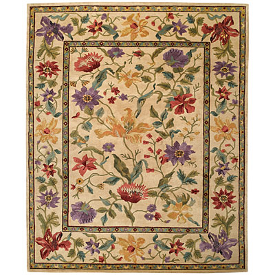 Capel Rugs Panama Orchids 9x11 Cream Area Rugs