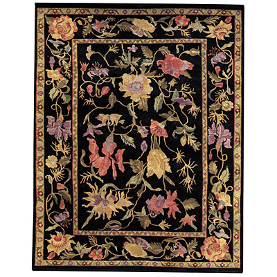 Capel Rugs Panama Orchids 9x11 Midnight Area Rugs