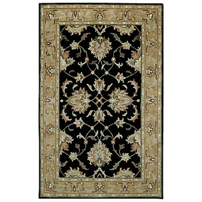 Capel Rugs Tibetan Treasures 8 x 11 Black Area Rugs