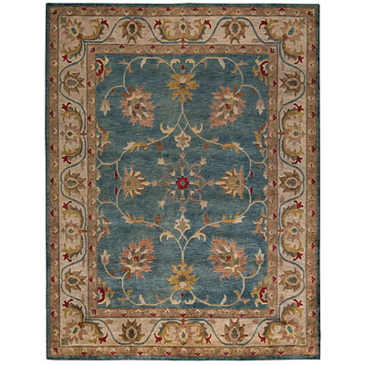Capel Rugs Tibetan Treasures 7 x 9 CoolTurqoise Area Rugs