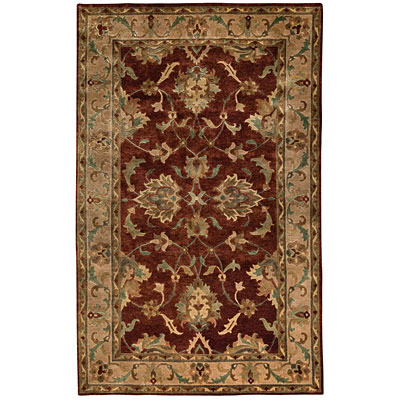 Capel Rugs Tibetan Treasures 7 x 9 Persimmon Area Rugs