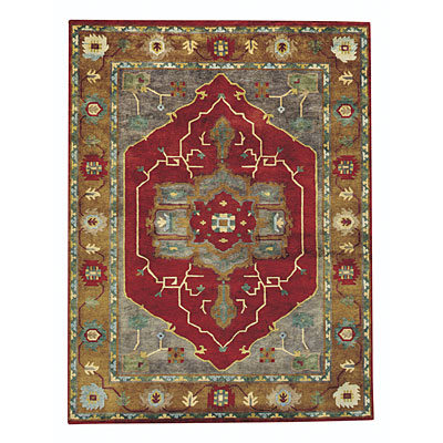 Capel Rugs Tibetan Treasures 7 x 9 RedGold Area Rugs