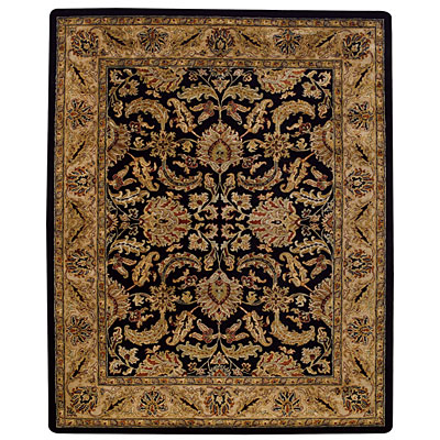 Capel Rugs Kaimuri-Floral Scroll 9 x 12 OnyxChampagne Area Rugs