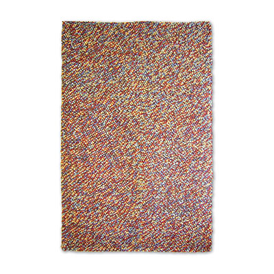 Central Oriental Pebbles - Gravel 5 x 8 Gravel Multi Area Rugs