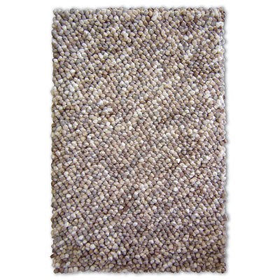 Central Oriental Pebbles - Gravel 5 x 8 Gravel Natural Area Rugs