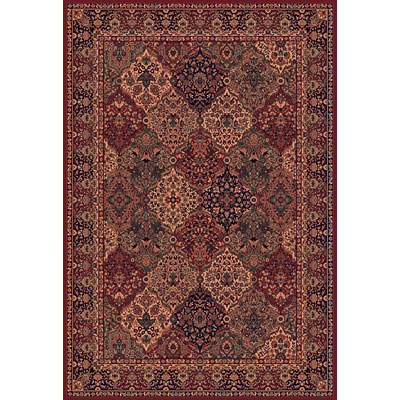 Central Oriental Reflections - Panel Kerman 2 x 8 Panel Kerman Red Area Rugs