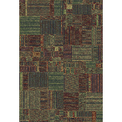 Central Oriental Inspirations - Quilted Squares 7 x 11 Quilted Squares Multi Area Rugs