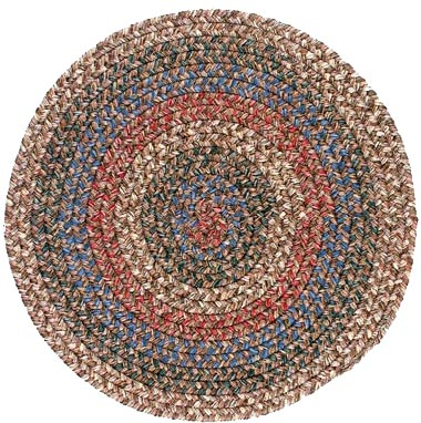 Colonial Mills, Inc. Lincoln 8 X 8 Round Chocolate Multi Area Rugs