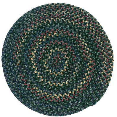 Colonial Mills, Inc. Midnight 8 X 8 Round Deep Forest Area Rugs