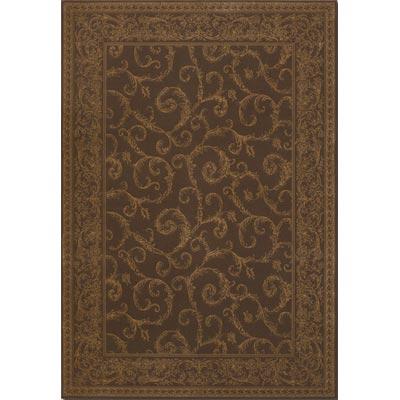 Couristan Baroque 9 x 13 Darcy Scroll Cocoa Area Rugs