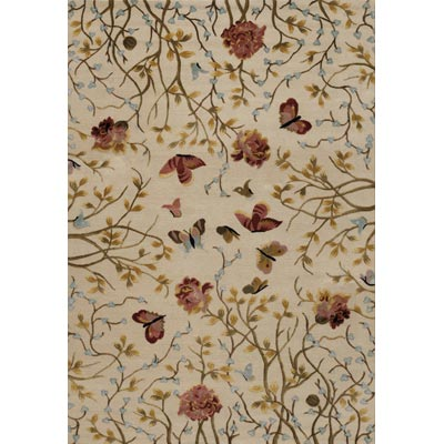 Couristan Eden 6 x 9 Monarch Garde Ivory Peony Area Rugs