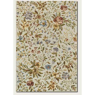 Couristan Eden 6 x 9 Spring Blooms Ivory Area Rugs