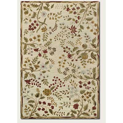 Couristan Eden 10 x 14 Summer Vines Ivory Area Rugs
