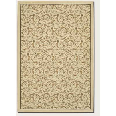 Couristan Everest 5 x 8 Royal Scroll Antique Linen Area Rugs