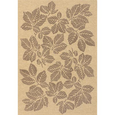 Couristan Five Seasons 6 x 9 Rio Mar Cream Brown Area Rugs