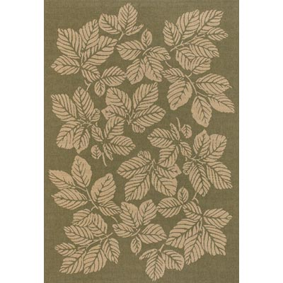 Couristan Five Seasons 9 x 13 Rio Mar Green Cream Area Rugs