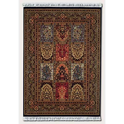 Couristan Gem 10 x 14 Antique Nain Black Area Rugs
