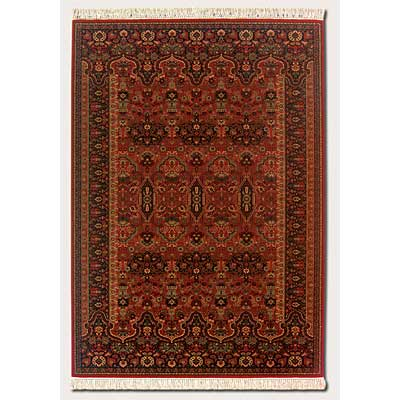 Couristan Gem 10 x 14 Kerman Vase Brick Red Area Rugs