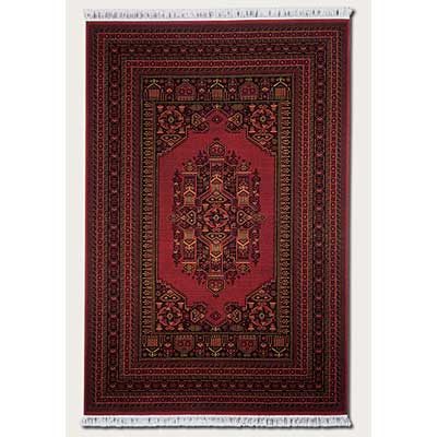Couristan Gem 10 x 14 Multi Border Afghan Bordeaux Area Rugs