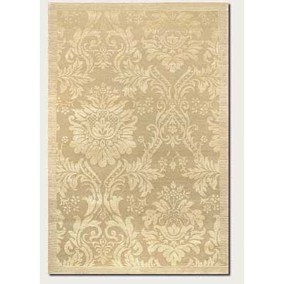 Couristan Impressions 10 x 14 Antique Damask Gold Ivory Area Rugs