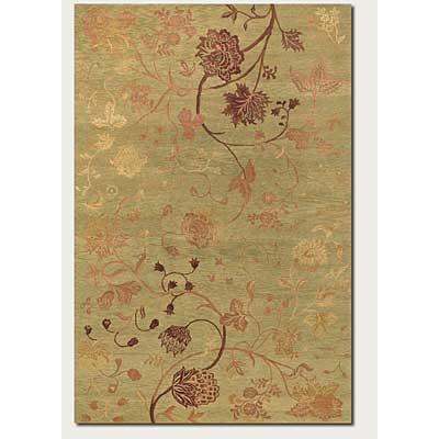Couristan Impressions 8 x 10 Oriental Garden Sage Raspberry Area Rugs