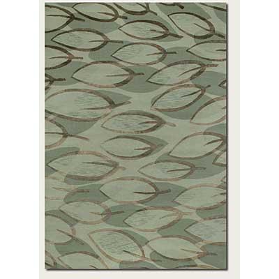 Couristan Impressions 8 x 10 Sage Leaf Sage Silver Area Rugs