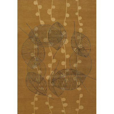 Couristan Impressions 9 x 12 Tea Leaf Honey Gold Area Rugs