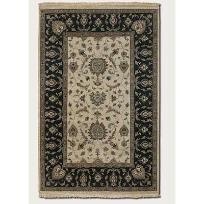 Couristan Jangali 9 x 13 All Over Isfahan Antique Ivory Black Area Rugs