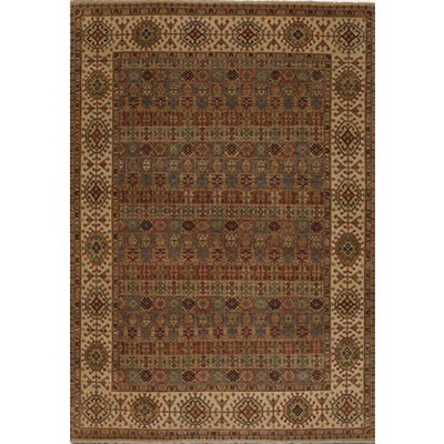 Couristan Jangali 9 x 13 Arabesque Tile Multi Cream Area Rugs