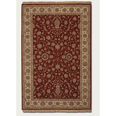 Couristan Jangali 8 x 11 Kerman Vase Red Ivory Area Rugs
