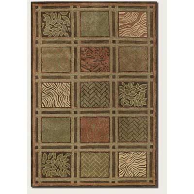 Couristan Kenya 9 x 13 Basketweave Collage Olive Area Rugs