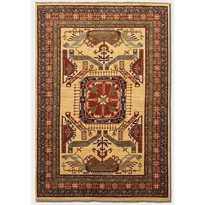 Couristan Lahore 8 x 12 All Over Vase Camel Area Rugs
