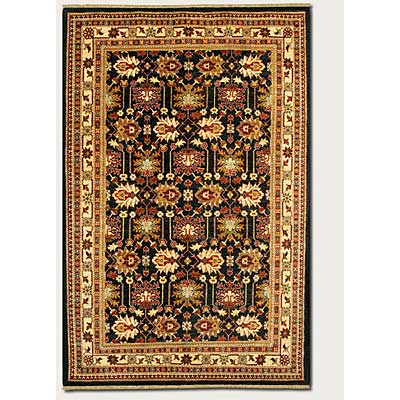Couristan Lahore 10 x 14 Antique Kazak Black Ivory Area Rugs