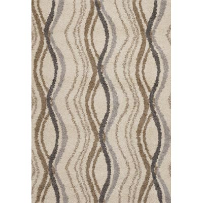 Couristan Moonwalk 5 x 8 Pulsation Cream Area Rugs