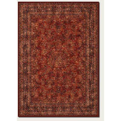 Couristan Old World Classics 10 x 14 Antique Burgundy Navy Area Rugs