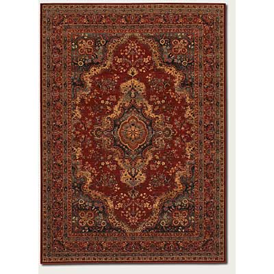 Couristan Old World Classics 10 x 14 Kerman Medallion Burgundy Area Rugs