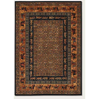 Couristan Old World Classics 10 x 14 Pazyrk Shed Rust Area Rugs