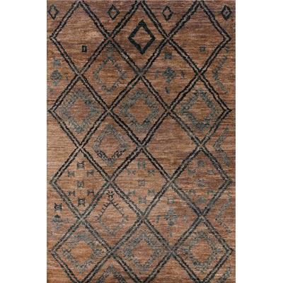 Couristan Organique 6 x 9 Folklore Straw Black Area Rugs