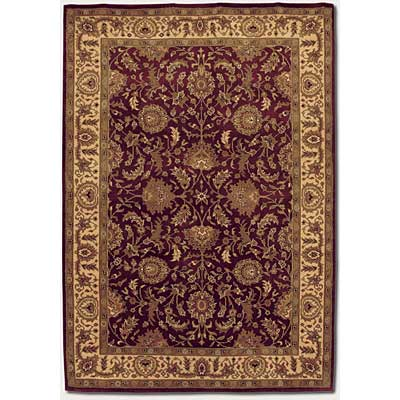 Couristan Orissa 10 x 13 Antique Ispaghan Burgundy Camel Area Rugs