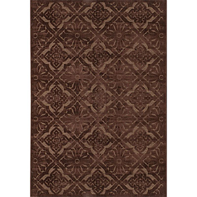 Couristan Pave 5 x 8 Diamond Arabesque Chocolate Smoky Topaz Area Rugs