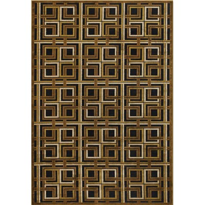 Couristan Pave 4 x 6 Georgian Links Antique Brass Onyx Area Rugs